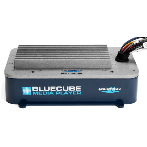 AQUATIC TV Blue Cube Hide Away Stereo for Bluetooth MP3 Aux
