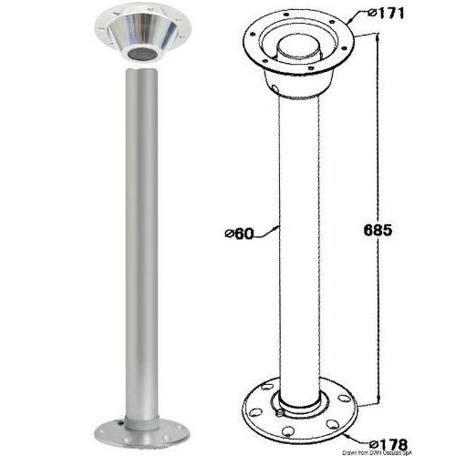 Removable Table Pedestal With Locking System Fixed